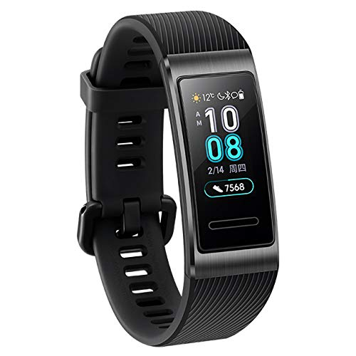 """HUAWEI Band 3 Pro, Smart Band 0.95"""" AMOLED Touchscreen, 24/7 Continuous Heart Rate Monitor, Scientific Sleep Monitor, Multi-Sports Mode, Built-in GPS, 5ATM Waterproof"""