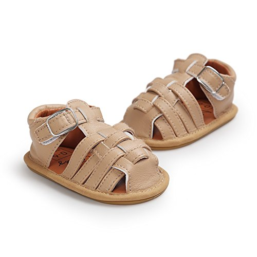 Pueri Azul oscuro Sandalias de los bebés del verano Zapatos infantiles Diseño generoso Ligero y cómodo Caqui