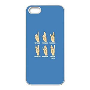 iPhone 4 4s Cell Phone Case White Hand Signs LV7125052