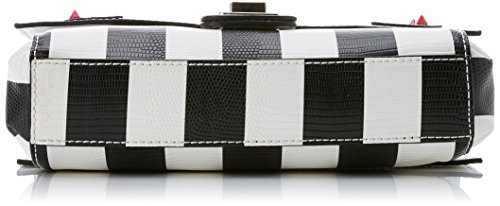 Guess Damen Bags Hobo Schultertasche, Mehrfarbig (Black Stripe), 7.5x15.5x23 centimeters Mehrfarbig (Black Stripe)