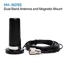 Phantom Mini Dual Band Vhf UHF HH-N2RS Antenna with Magnetic Mount 5M RG316 Cable for Car Vehicle Mobile Radio QYT TYT Baojie