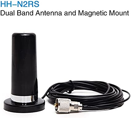 HH-N2RS Mini Dual-Band Antenna Mount PL-259 UHF//VHF Set For Car Mobile Radio