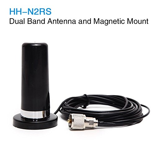 Phantom Mini Dual Band VHF UHF HH-N2RS Antenna with Magnetic Mount 5M RG316 Cable for Car Vehicle Mobile Radio QYT TYT Baojie ABBREE