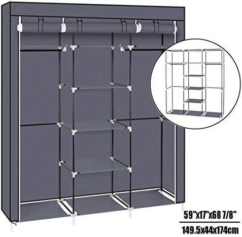 多機能ガーメントは防塵不織布カバーで服クローゼット収納オーガナイザーを組み立てるために 迅速かつ簡単に服用スタンド