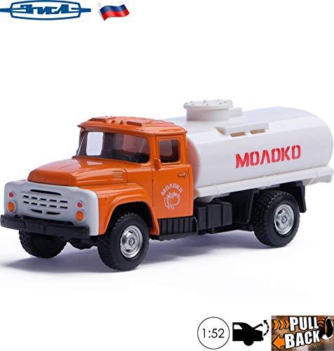 Milk Tanker Trucks - 1:52 Scale Diecast Metal Model Truck ZIL 130 Milk Tanker Russian Soviet Toy Cars