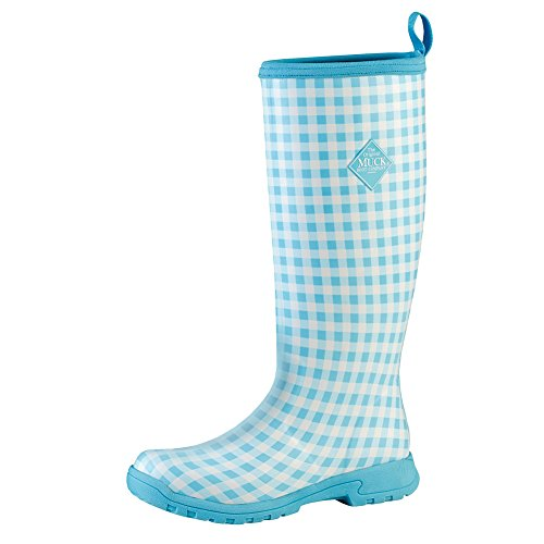 Muck Boot Company Women's Breezy Tall Casual Boots, Blue Gingham, Size 7 by Muck Boot