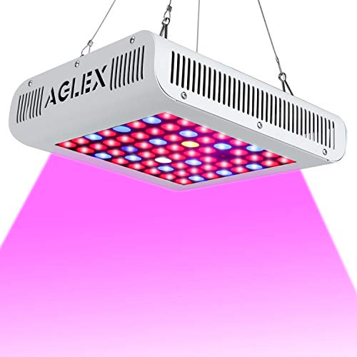 Cheap LED Grow Light 600W, Full Spectrum Reflector Series LED Plant Grow Light with UV & IR, Veg and Bloom Switch for Indoor palnts (64pcs LEDs)