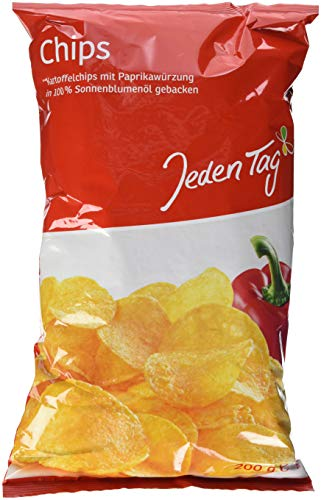 Jeden Tag Paprika Chips mit Sonnenblumenöl, 200 g