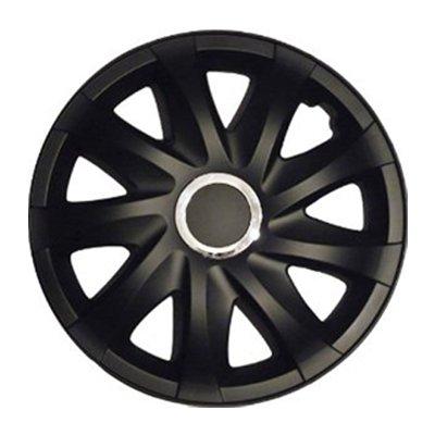 Tapacubos DRF Negro Mate 16 pulgadas compatible con Opel Agila, Astra F G, Calibra, Combo, Corsa A B C D: Amazon.es: Coche y moto