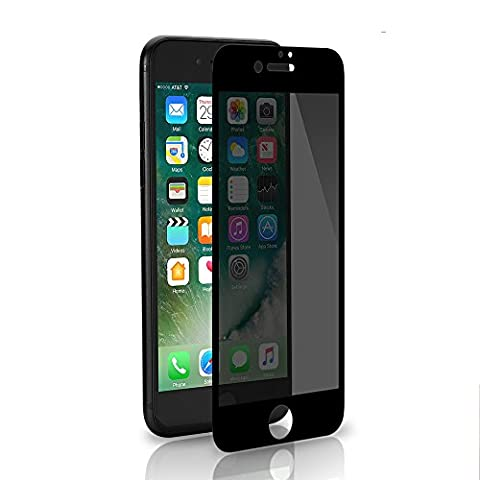 iPhone 7 Plus /8 Plus Screen Protector Tempered Glass Privacy Left and Right 2-Way Anti Spy Peeping 3D Full Screen Film 5.5 Inches (Not for iPhone 7) Scratch Proof, Anti-Fingerprint by SANFEEL (Privacy Screen For Not)
