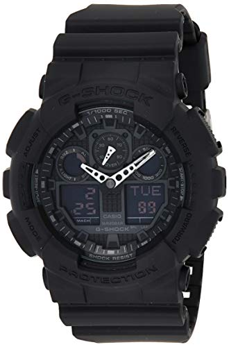 Casio G-Shock Men's Watch in Resin with Anti Slip Over Sized Buttons – Water Resistant & Anti Magnetic