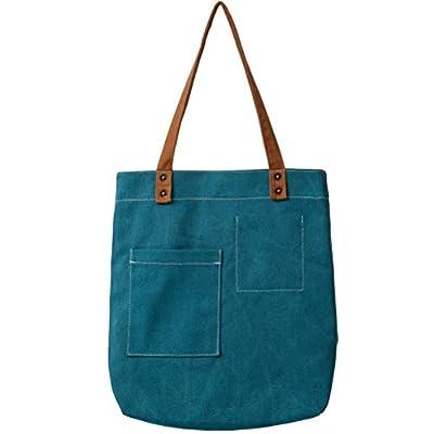 EasyHui Womens Canvas Tote Bag Casual Pure Color Hobo Girls Messenger Shoulder Bag Travel Bag