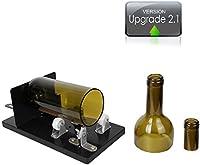 Bottle Cutter, Genround [laptop 2.1] Taglia Bottiglie Vetro Professionale | Ovale/Tondo/Quadrato in Taglio Bottiglia Vetro Scoring macchina da collo a corpo | Taglia Vetro per Bottiglie di Vetro, vetro bottiglia di vino taglierina taglio kit per creativi lampada/candela/Planter