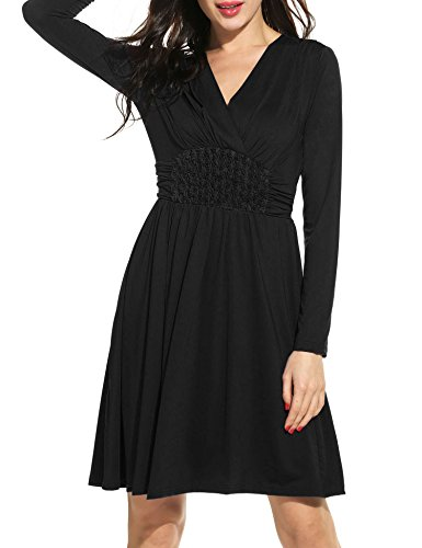 ANGVNS Womens Sleeve Ruched Casual