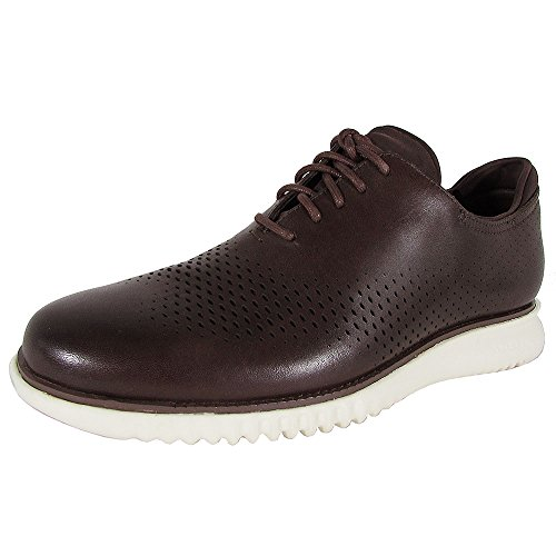 Cole Haan Lace Oxfords - Cole Haan Men's 2.0 Grand Laser Wing Oxford Chestnut Leather/Ivory Oxford 10.5 D (M)