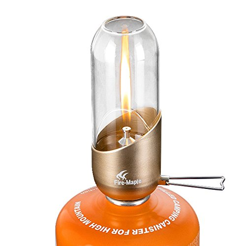 Tentock Portable Camping Gas Lamp Mini Outdoor Compact Small Light Adjustable Brightness only 140g by Tentock