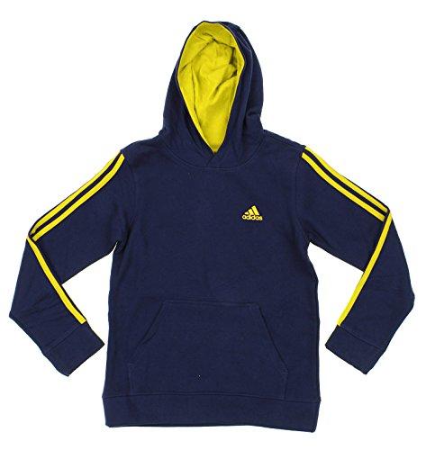 Adidas Big Boys Youth Game Time Pullover Fleece Hoodie, Navy Yellow Adidas Big Game Fleece