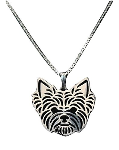 [Yorkshire Terrier Necklace for Yorkie Dog Lovers Silver Color Pendant and Necklace] (Yorkshire Terrier Jewelry)