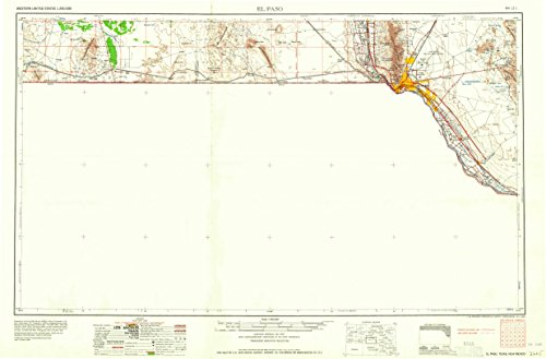 El Paso TX topo map, 1:250000 scale, 1 X 2 Degree, Historical, 1965, 21.7 x 33 IN - - El Tx Paso Vista
