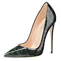EKS Women's Pumps High Heels Sexy Pointy Toe Dress Party Court Shoes