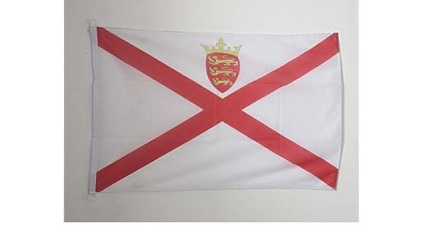 AZ FLAG Bandera de Jersey 90x60cm Uso Exterior - Bandera Inglesa - Inglaterra 60 x 90 cm Anillos: Amazon.es: Hogar