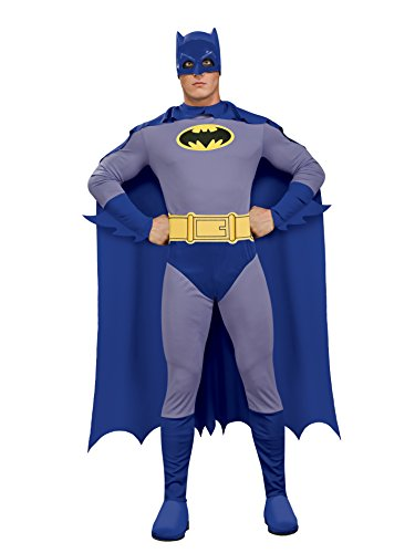 Rubie's Men's Batman The Brave and The Bold Adult Batman Costume, Blue/Grey, Large -