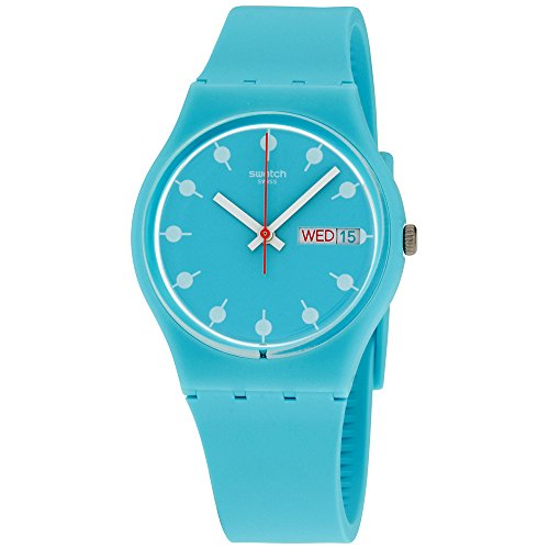 Swatch Originals Venice Beach Turquoise Dial Silicone Strap Unisex Watch ()