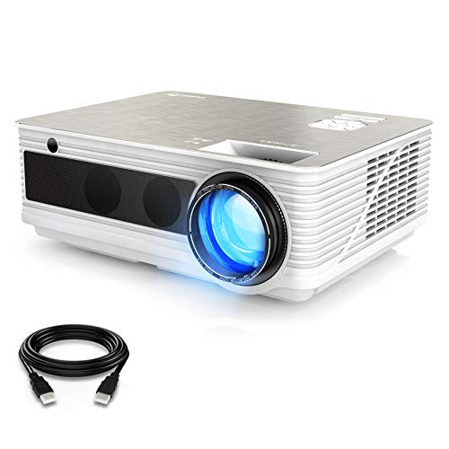 Theater Led Home (VIVIMAGE C580 3800 Lumens Movie Projector, Full HD 1080P Supported, Home Theater Projector Compatible iPhone, PC, DVD, Fire TV Stick, PS4, Xbox, HDMI Cable Included)