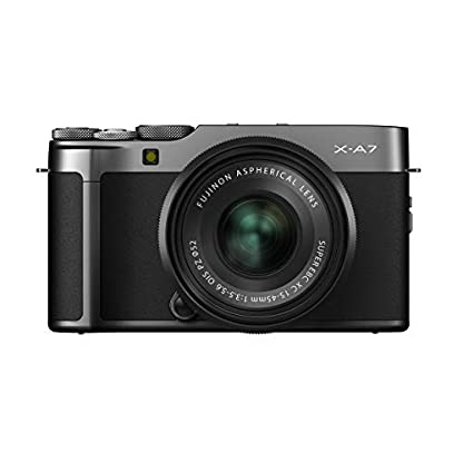 "Fujifilm X-A7 24.2 MP Mirrorless Camera with XC 15-45 mm Lens (APS-C Sensor, Large 3.5"" Vari-Angle Touchscreen, Face/Eye Auto Focus, 4K Video Vlogging, Blur Control, Film Simulations) - Dark Silver 1"