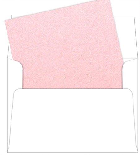 A7 Rose Quartz Metallic Envelope Liners, Stardream, 25 Pack