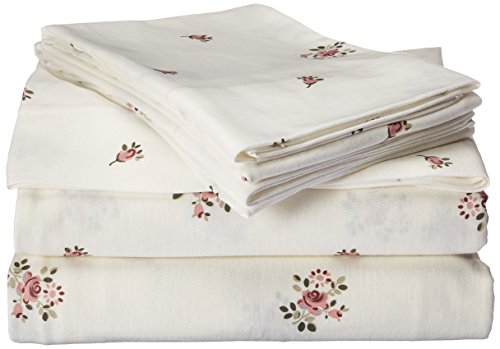 Brielle Fashion 100% Cotton Jersey, Queen Sheet Set, Rose Garden - Jersey knitted (t-shirt); single-ply yarns; imported Queen sheet set includes flat sheet, fitted sheet, and 2 pillow cases 90-By-102 inch flat sheet, 60-by-80 inch fitted sheet, 20-by-30 inch standard pillow cases - sheet-sets, bedroom-sheets-comforters, bedroom - 41g5%2BOHqLSL -