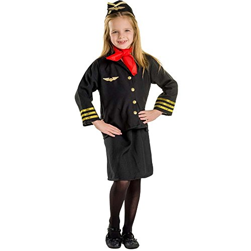 Flight Accessories Costumes Attendant (Flight Attendant Costume Set - Medium)