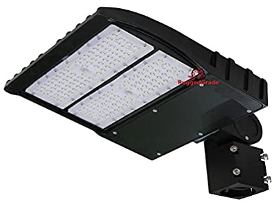 150 Watt LED Compact Parking Lot Lights - 19,000 Lumen - Super Efficiency 130 Lumen to Watt - 5000K Bright White - Replaces 500W Halide - LED Shoebox Lights