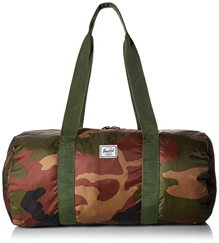 Herschel Packable Duffle Weekend Duffel, Woodland Camo, One -