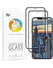 "Asenzat Panzerglas Full-Screen Panzerglasfolie kompatibel mit iPhone 11 Schutzfolie/iPhone XR (6.1"") Schutzfolie [2 Stück] [10D-gerundeten Kanten] für iPhone 11, iPhone XR"