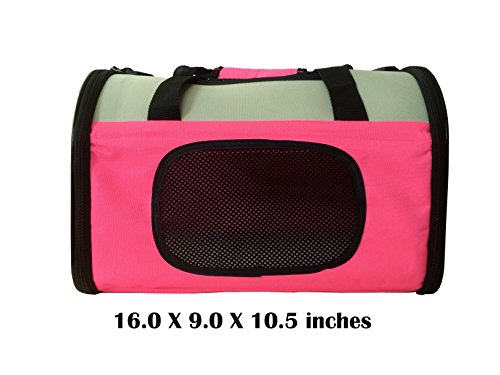 Reelok Portable Soft Sided Airline Approved Dog Carrier Pet Travel Bag Pet Home Comfortable Pink Carrier for Cats, Puppies and Small Animals by Reelok (Image #6)