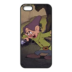 iphone5 5s Cover , Snow White and the Seven Dwarfs Character Dopey Cell phone case Black for iphone5 5s - KS888-124916