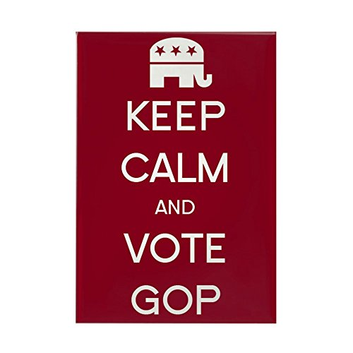 "CafePress Keep Calm And Vote GOP Rectangle Magnet, 2""x3"" Refrigerator Magnet"