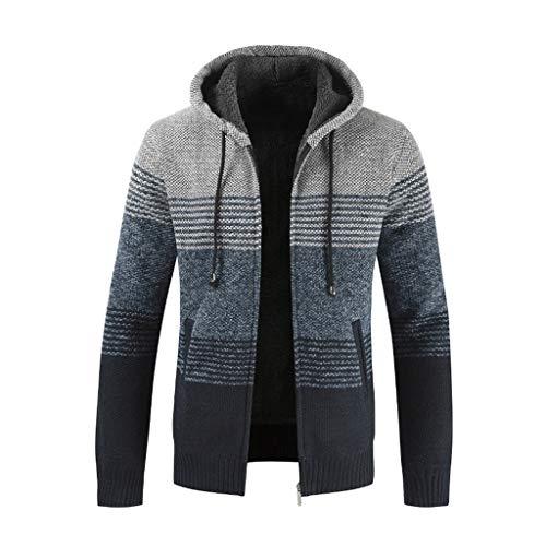 Sweatshirt Felpa Collo Cappotto Qinsling Distintivo Con Elegante Grigio Maglione C Lunghe Camicetta Classico Cappuccio Uomo Cerniera Hoodie Dolcevita Inverno Tops Maniche wO4q4zn1