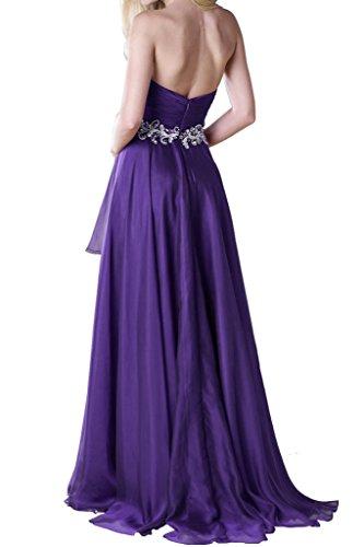 Abendkleider Festkleid Chiffon Linie Beliebt Violett Ivydressing Promkleid Lang A Herz Ausschnitt I6z6qwxX8
