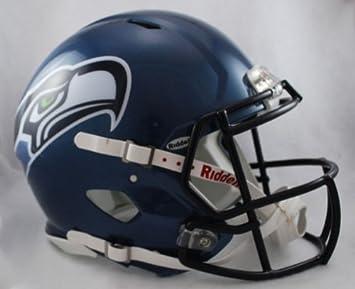 Riddell NFL Seattle Seahawks velocidad auténtico casco de fútbol   Amazon.es  Deportes y aire libre e0e82370533