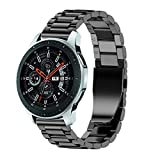 Galaxy Watch 46mm Bands,AutumnFall Luxury Stainless Steel Wristband Replacement Strap with Adjust Repair Tool for Samsung Galaxy Watch 46mm (Black)