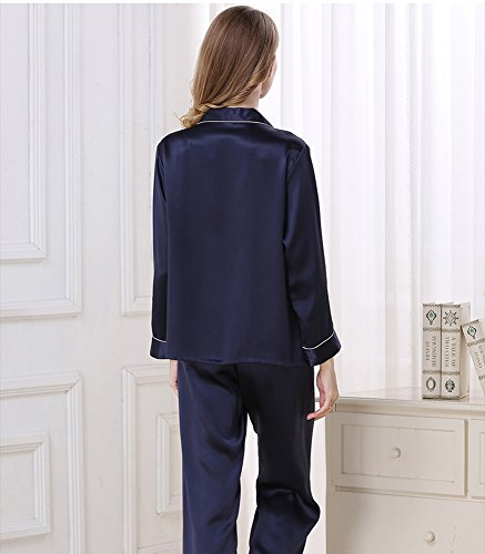 LSHARON - Pijama - para mujer azul oscuro