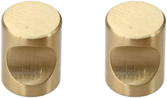 22mm Vikenner 2 St/ück M/öbelknopf Schrank Kn/öpfe Schubladengriffe Schrankkn/öpfe Kn/öpfe Griffe Einfach Kupfer gold Einloch mit 25mm Schrauben T/ürgarnitur Sto/ßgriff 20