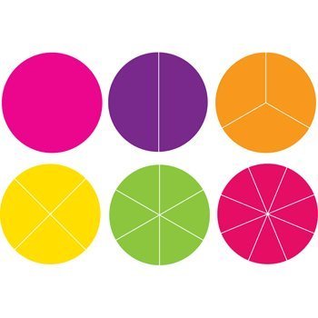 Accucut Curriculum & Classroom Die Cut Sets - Math and Geometric (Fraction Circle Set) by Accucut