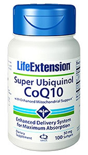 Life Extension Super Ubiquinol CoQ10 with Enhanced Mitochondrial Support, 50 mg, 100 Count