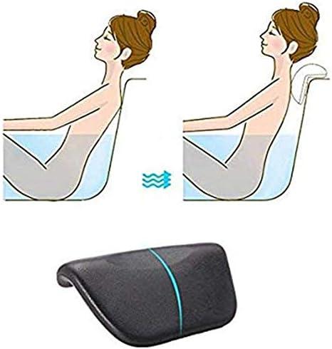 PUバスタブ枕、ショルダーネックサポート背もたれ、カビ抵抗性の快適な素晴らしいサポートバースクッションヘッドレスト