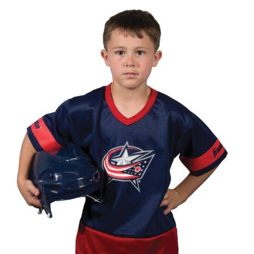 [Franklin Sports NHL Columbus Blue Jackets Youth Team Uniform Set] (Sports Day Costume Ideas Blue)