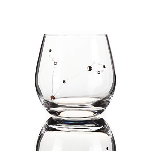 Zodiac Pisces Sign Wine Glasses Water Glasses,Constellation Acessories Gifts,11 Ounce (Pisces)