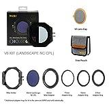NiSi V6 Filter Holder,V6 100mm System Filter Holder Kit with NC Landscape Circular Polarising Filter(CPL),Adapter Rings Storage Bag Lens Cap V6 Holder